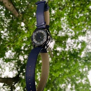 Black stainless steel watch by Superior Watch